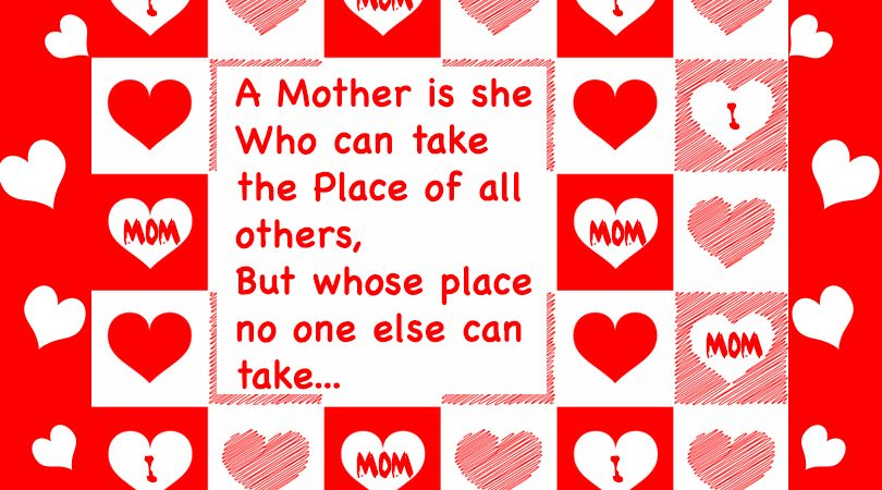 Mother can take place of all others