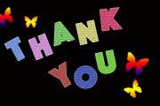 thank you with butterfly image