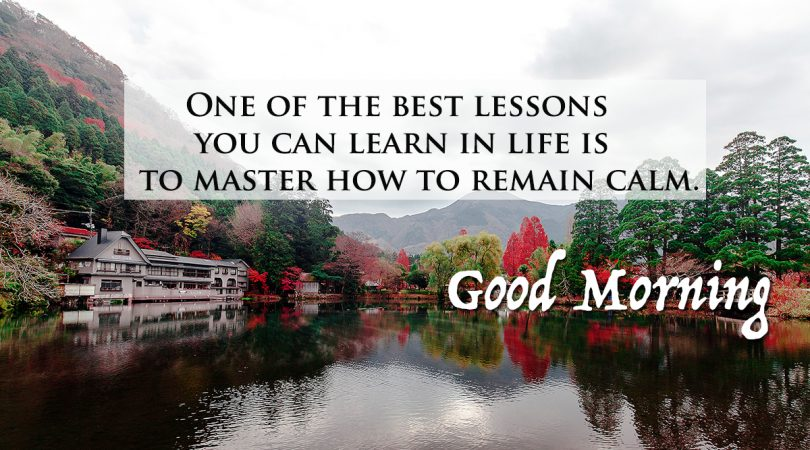 One of the best lessons of life