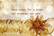 Warm wishes for a new year.