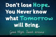 what tomorrow will bring