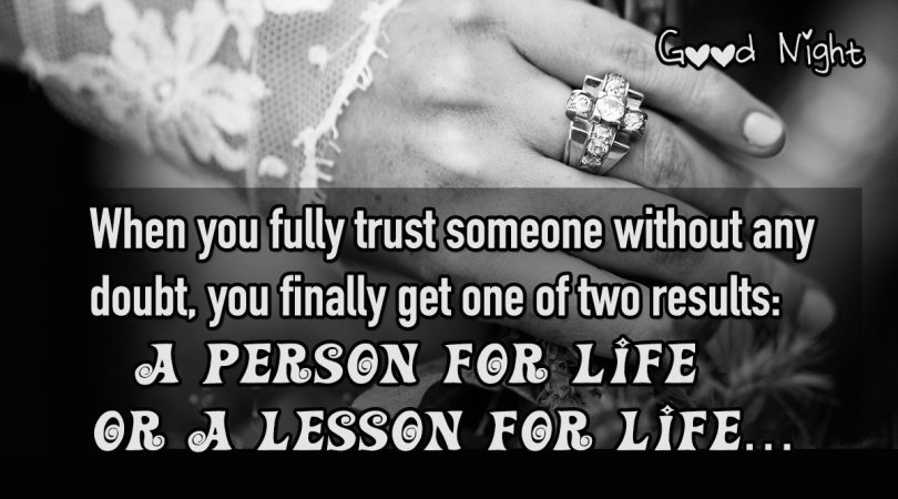 when you fully trust someone