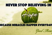 Miracles happen everyday