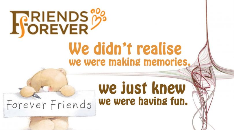 We didn't realise we were making memories