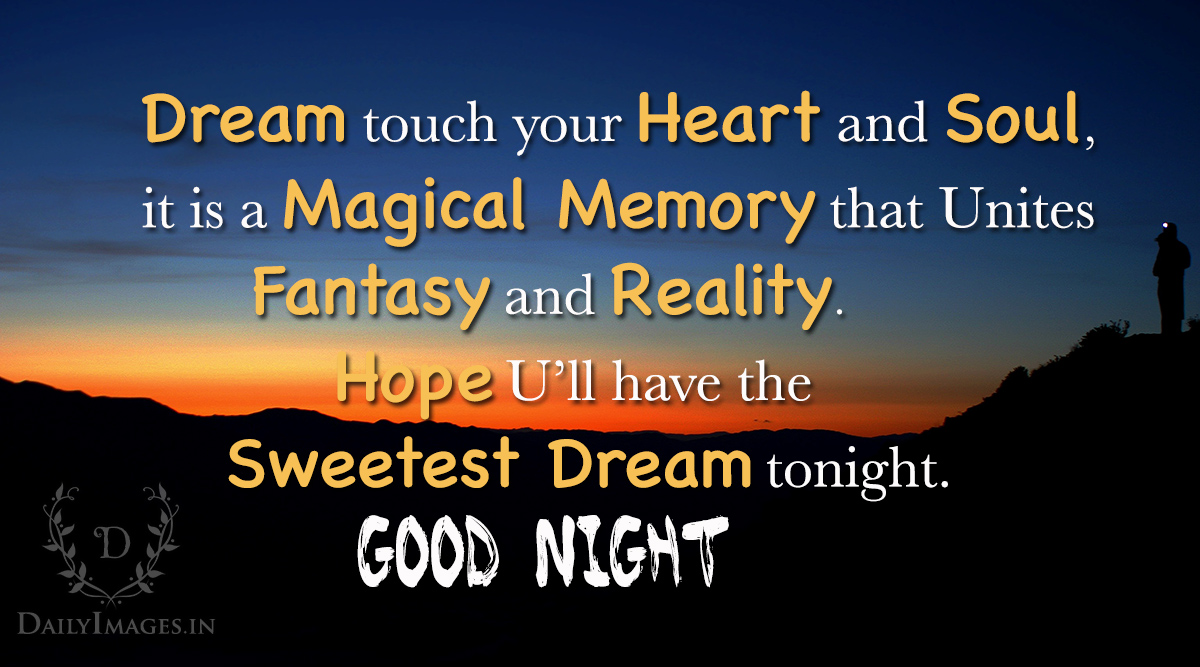 Good Night: Dream Touch Your Heart And Soul