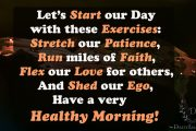 Let's start our day with these exercises