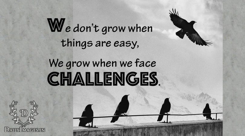 We grow when we face challenges