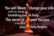 You will never change your life