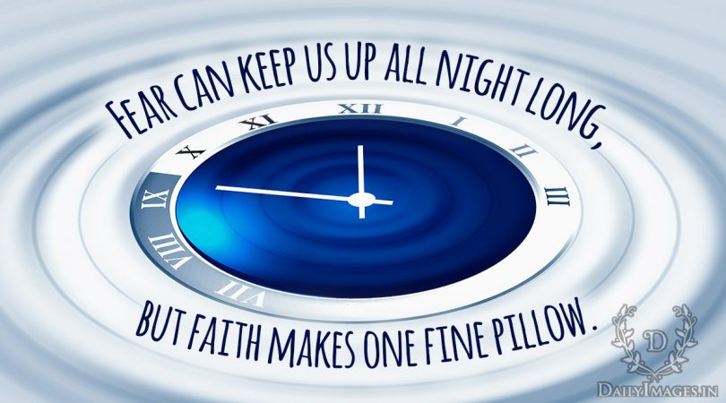faith makes one fine pillow