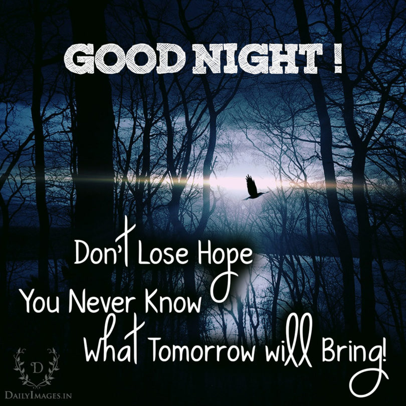 Don't lose hope you never know what tomorrow will bring