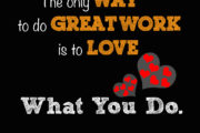 The only way to do great work is to love what you do