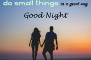 If you cannot do great things, do small things in a great way. Good Night