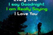 Every time I say Goodnight I am Really Saying I Love You