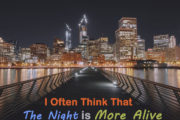 I Often Think That The Night is More Alive and Richly Colored Than the Day