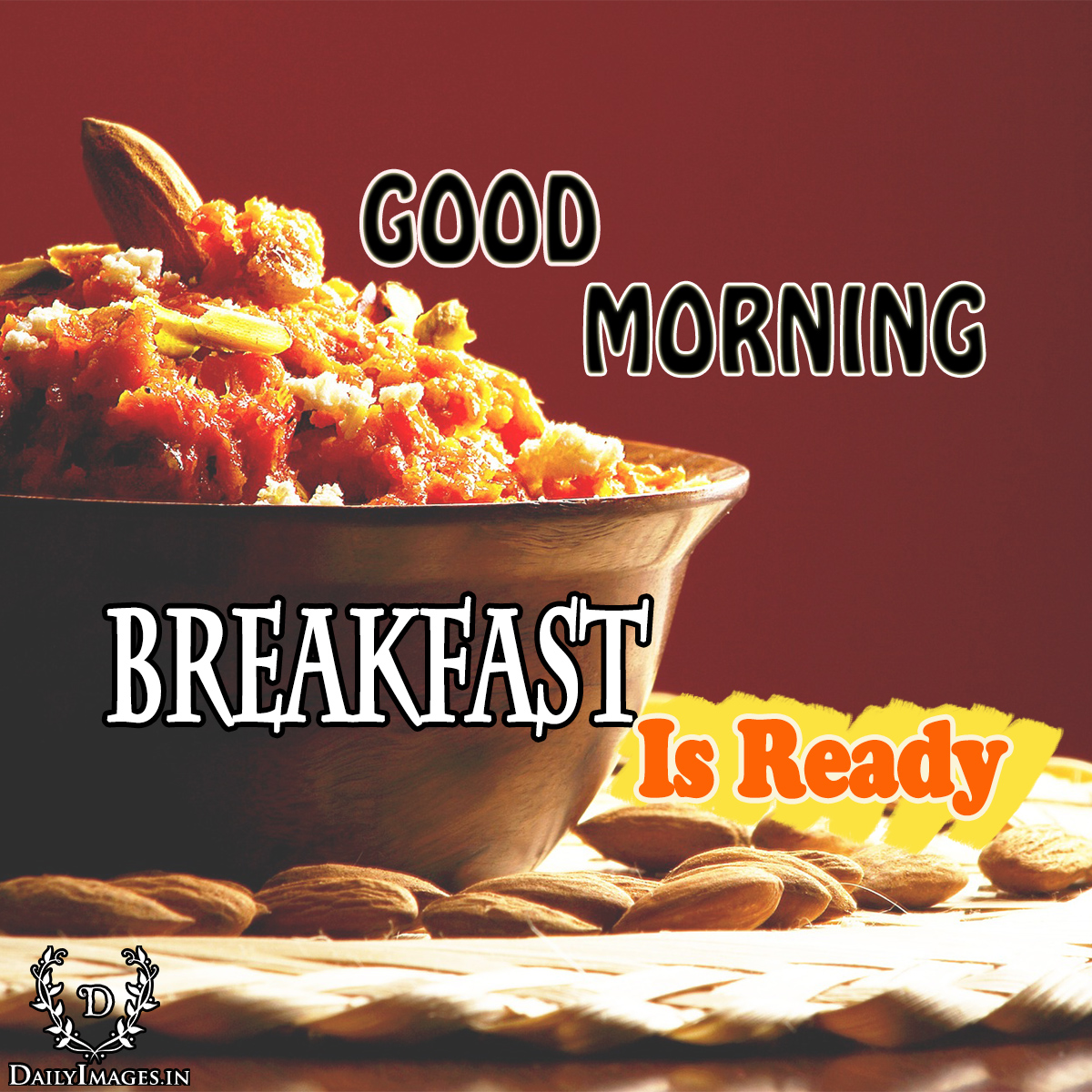 Good Morning Quotes With Fruits: Good Morning....Breakfast Is Ready.